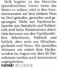 Artikel NGZ September 2007